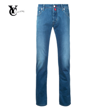 2017 New Fashion Men's Jeans Brand Tapered Trousers Modern Designer Cotton Jeans Pants