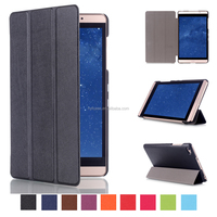 Magnetic Flip Leather Case for Huawei MediaPad M2 8.0 with Sleep / Wake-up Function
