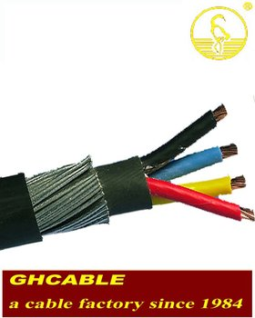XLPE SWA PVC STEEL WIRE ARMOURED POWER CABLE