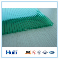 Anti-UV Polycarbonate sheet Durable Roofing Cover Panel For Skylight & Greenhouse Manufacturer Price Twinwall Hollow Sheet