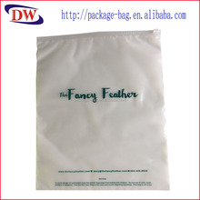 zipper front clear ldpe logo printed polybags for garments
