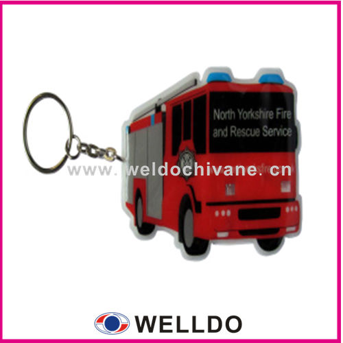 Custom rubber keyring with car logo
