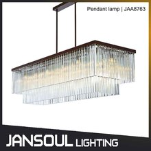 large two tier contemporary rectangular pendant ceiling light for over dining tables