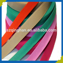 Custom Solid Color Cotton Elastic Webbing Belt with Snaps Holes Kids Elastic Belts