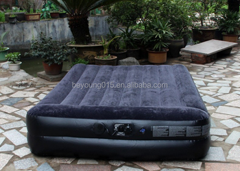 air bed type single/queen size inflatable bed with built in pillow/pump