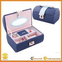 Faux Leather Jewelry Box Organizer Necklace Ring Display Vintage Gift Case,jewelry box manufacturers china