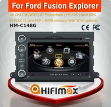 Hifimax 2 Din touch screen car dvd gps player for FORD F150/touch screen car gps player for ford fusion