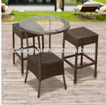 2017 Trade Assurance Hot Sale Outdoor Simple design aluminium frame rattan handmade garden line table set furniture