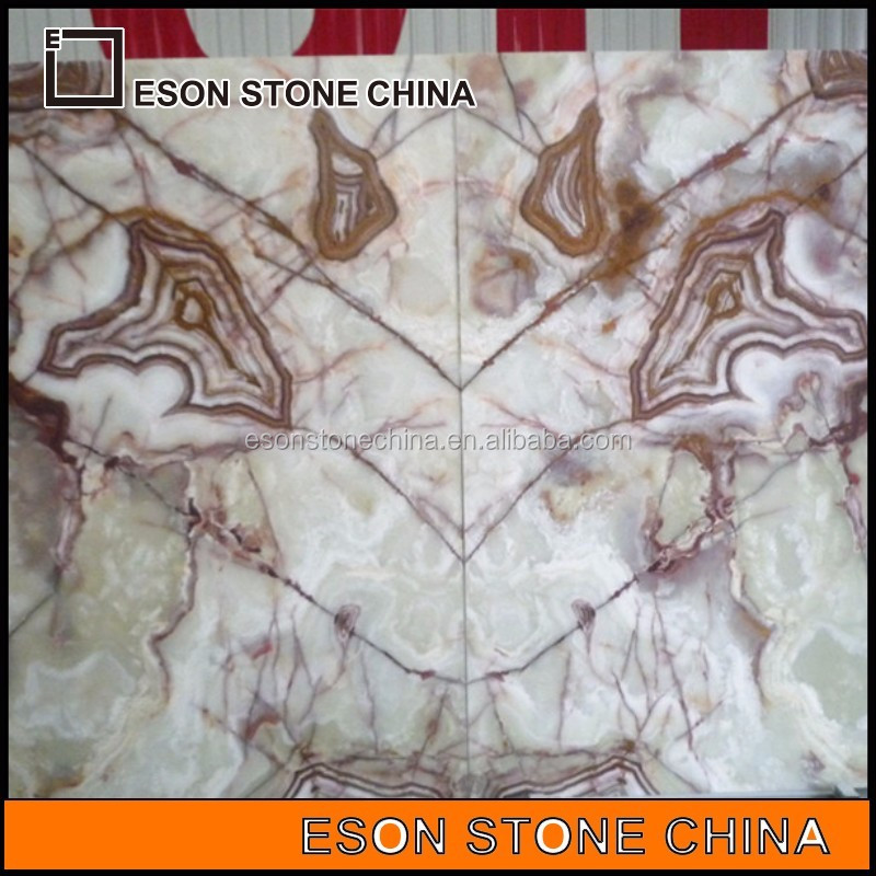 eson stone ES-10 red color onyx marble block importer