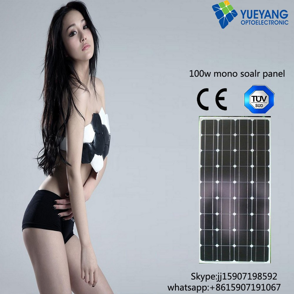 low price mini cell solar !! 100wp amorphous silicon solar pv module for tile roof BIPV