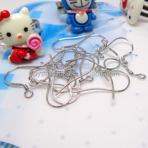 925 Silver Fish Dangle Earring Clasps Hooks Earring Wires For Jewelry Diy