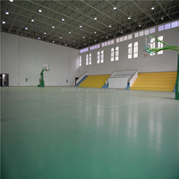Antislip Colorful pvc portable basketball court sports flooring from china
