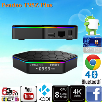 2017 NEW Brand Pendoo T95Z Plus S912 2G 16G media player 4k 3d octa core android 6.0 Sold on Alibaba KODI TV BOX