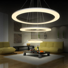 2015 hot wholesale large ring acrylic modern led pendant lamp home lighting