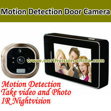 Hot selling Ir nightvision and 180 wide view angle doorbell peephole camera with motion detection and 3.0 inch Touch LCD screen
