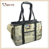 Wholesale Retail Hot-sale PU Comfort Soft Portable News Paper Pet Bag