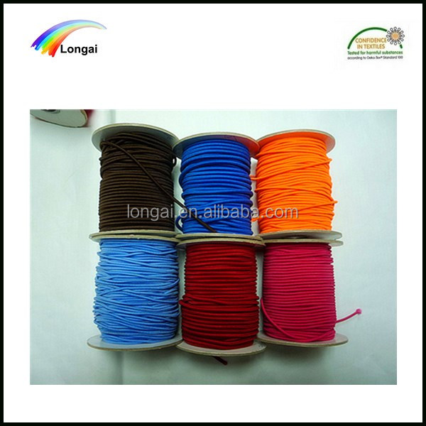 Eco-friendly Garment use round elastic rubber cord 5mm wholesale