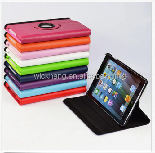 360 Rotating Folio PU Leather Smart Case Cover For Apple iPad mini 1 2 3 7.9""