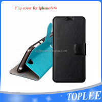 hot sale PU leather flip cover for iphone 6 6s case