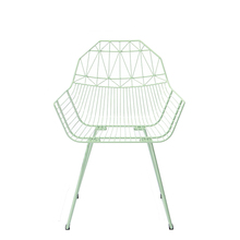 Triumph Lime Modern Replica Master Home Furniture Steel Metal Wire Mesh Dining Chair