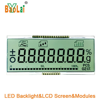7 segment watch backlight panel energy meter Transparent LCD Display