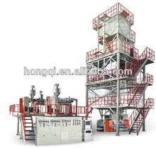 CE ISO certificate 3 Layers Co extrusion heat shrinkable film pof shrink film blowing machine