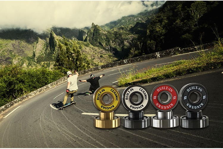 Inline skate wheel with ABEC-7 precision inline skate bearings