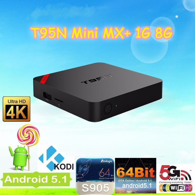 Newest T95N S905X MINI MX+ 1G 8G Quad core android 6.0 tv box Kodi17.0