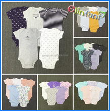 2017 hot sale 5pcs 100% cotton baby romper baby clothes kids jumpsuits