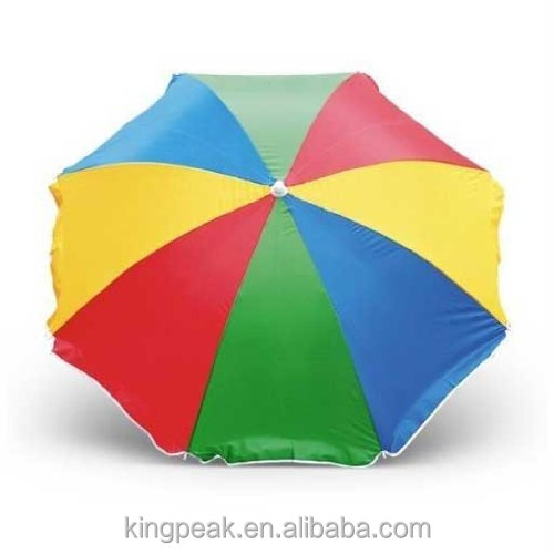 2016 Hot Sale Adjustable Beach Multi coloured Parasol/Garden Beach Patio Holiday Sun Shade/sun garden parasol umbrella