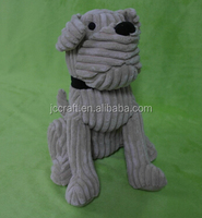 Decorative sitting dog door stop with sand bag