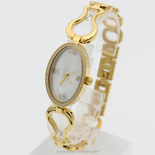 High quality elegant design with crystal and MOP dial fashion ladies bracelet watch women B2794-05