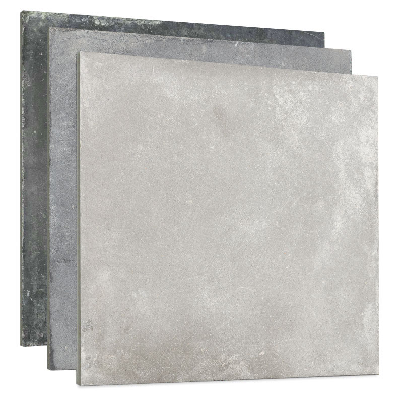 Antique Gres Dark Gray Glazed Cement Look Porcelain Rustic 600x600 Ceramic Wall and Floor <strong>Tile</strong>