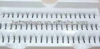 hot sale! 100% real Siberian mink Clusters flare lash extension