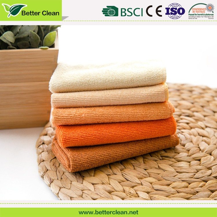 Household home textile cleaning cloth warp knitted absorbency cheap kitchen wash clean microfiber towel