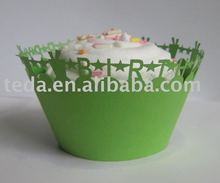 sale grass color Cupcake Wrappers