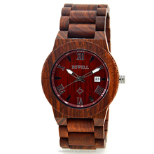 High quality 100% wooden watch in stock , cheap price men stock wood watch
