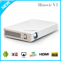 The smallest 1000Lumens Full HD 3D 1080p 4K DLP LED Projector with building in Android & WIFI