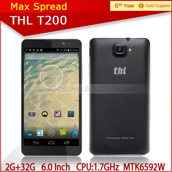 Original THL T200 T200C phone Octa Core 6.0 inch MTK6592W 2GB RAM 32GB ROM 3G WCDMA Smart Cell Phone Mobile