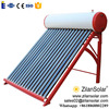 High efficiency solar boiler for homes with unpressurized water tank