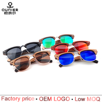 Wholesale customized logo handmade polarized wooden sunglasses