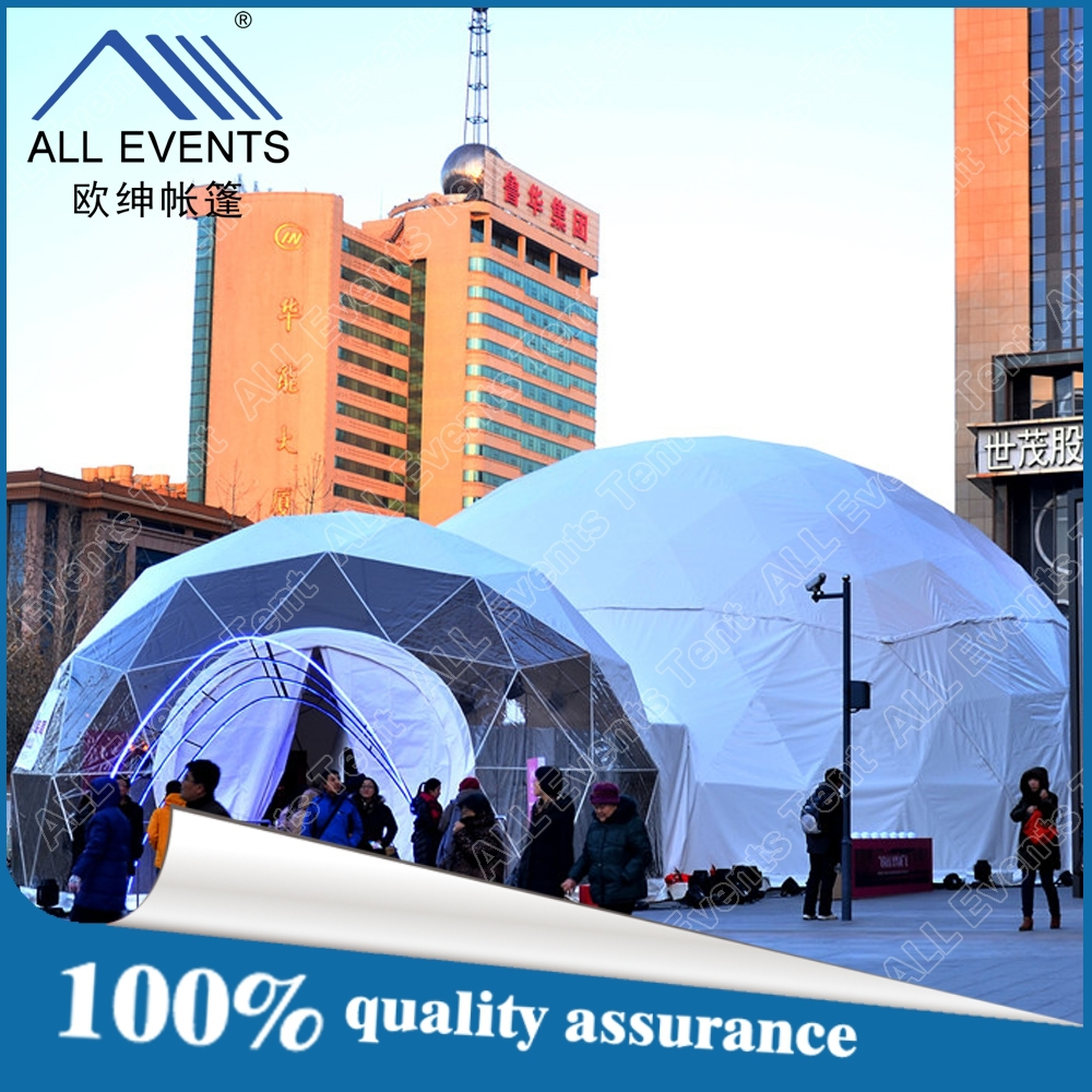 Waterproof geodesic dome tent for fashion shows with factory price