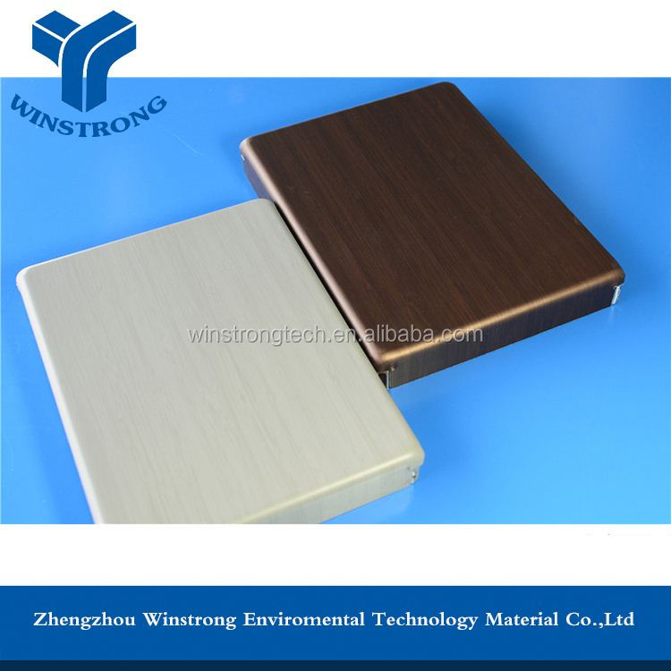 Heat insulation Stable quality PE/PVDF aluminum interior wall panel