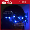3pcs color LED led bufferfly eyeglass