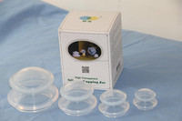 Best selling product in america Silicone cupping set hijama cupping therapy Green Island cupping set