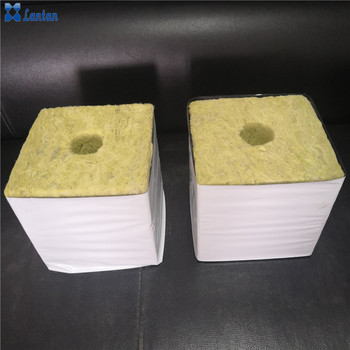 Hydroponic rock wool cubes planting block for greenhouse vegetable growing