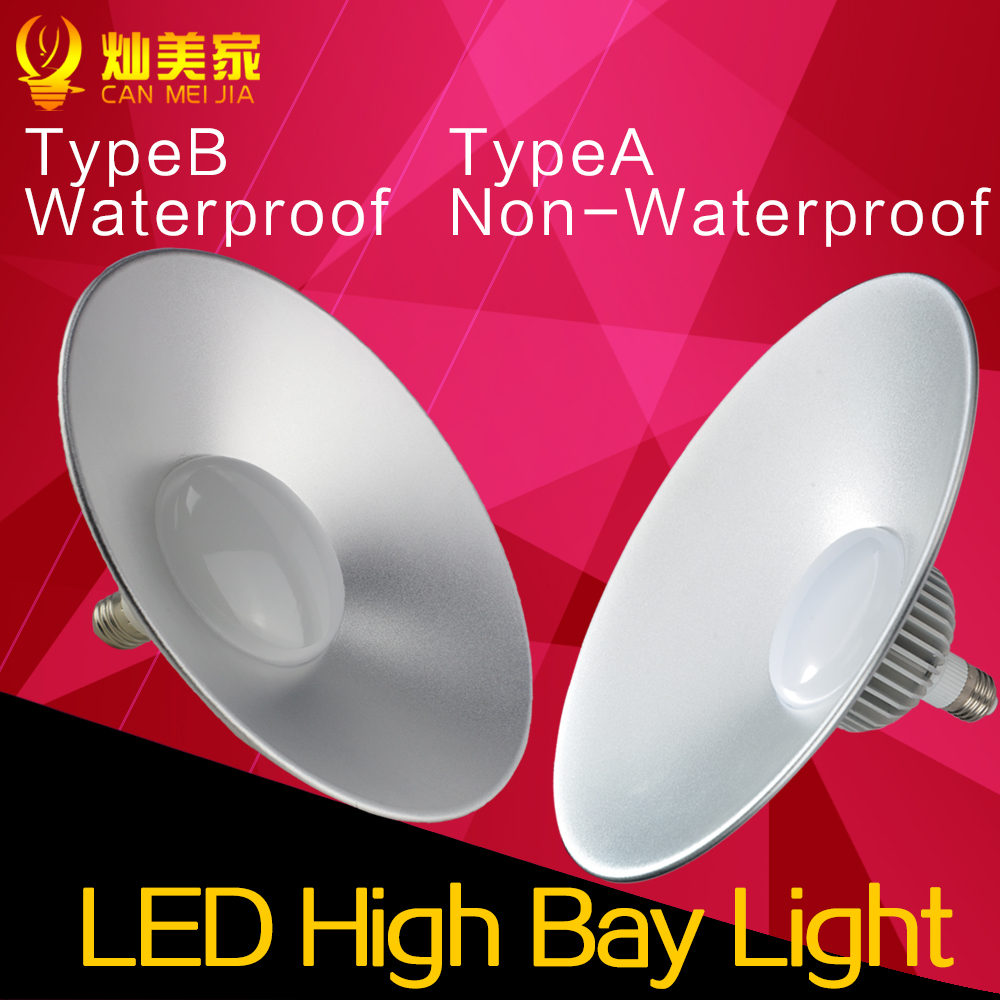 Waterproof Led High Bay Light E27 20W 30W 50W 70W Factory Warehouse Industrial Light Replace Halgon Lamp 24W 36W 165-265V