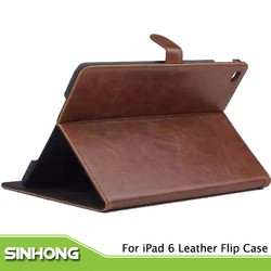 New Arrival 5 Colors Tablet Leather Flip Cover For iPad 6,Cover For iPad 6