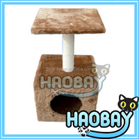 Simple Wooden Cat Tree House