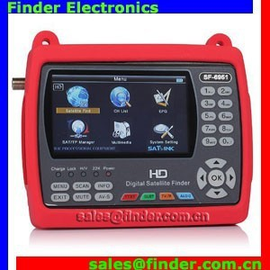 New Arrival HD Satellite Finder 6951 with 4.3 Inch High Definition TFT LCD Screen Supports DVB-S2